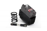 Servo, digital high-torque, metal gear (ball bearing), waterproof: servo saver spring: steering link