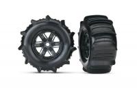 Tires & wheels, assembled, glued (X-Maxx) left & right