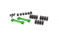 Mounts, suspension arms, aluminum (green-anodized) (front & rear)