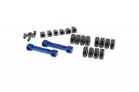 Mounts, suspension arms, aluminum (blue-anodized) (front & rear)