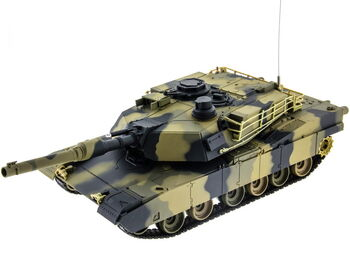 Радиоуправляемый танк Heng Long M1A2 ABRAMS 1:24 с пневмопушкой