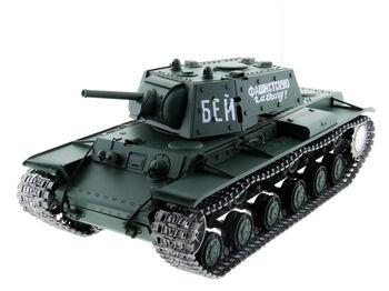 Радиоуправляемый танк Heng Long 1:16 KV-1 (Россия) 2.4G RTR PRO