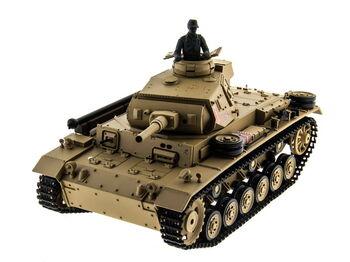 Радиоуправляемый танк Heng Long Panzerkampfwagen III PRO 1:16 (Германия) 2.4G RTR