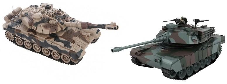 Радиоуправляемый танковый бой Zegan советский T90 vs Abrams США 2.4G