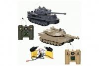 Радиоуправляемый танковый бой ZEGAN M1A2 vs Tiger 1:28