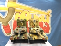 Радиоуправляемый танковый бой Huan Qi 558 Abrams vs Abrams 1:24 2.4G 33 см
