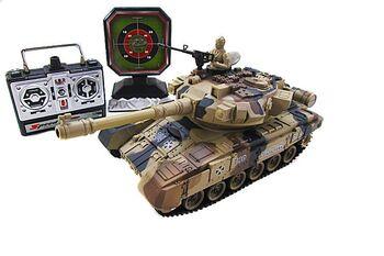 Радиоуправляемый танковый бой Household YH4101D с мишенью