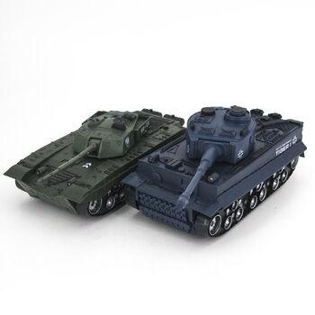Радиоуправляемый танковый бой Тигр и Type 99 1:32