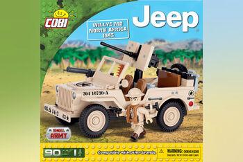 Конструктор COBI Jeep Willys MB North Africa 1943