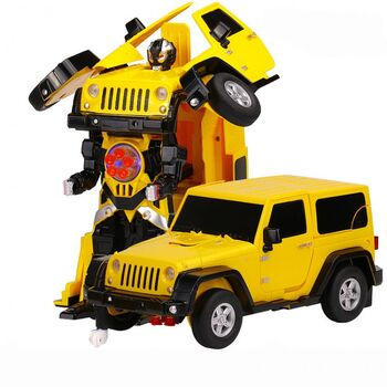 Радиоуправляемый робот трансформер Jeep Rubicon Желтый цвет 1:14 - 2329PF
