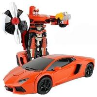 Радиоуправляемый трансформер MZ Lamborghini Aventodor Orange 1:14