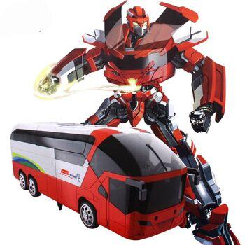 Радиоуправляемый трансформер MZ Красный автобус 1:14 - 2372P-R