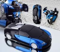 Радиоуправляемый трансформер, ползающий по стенам MZ Bugatti Veyron Blue 1:24 - 2815P-B