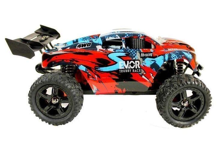 Радиоуправляемая трагги Remo Hobby S EVO-R Brushless UPGRADE 4WD 2.4G 1/16 RTR красный