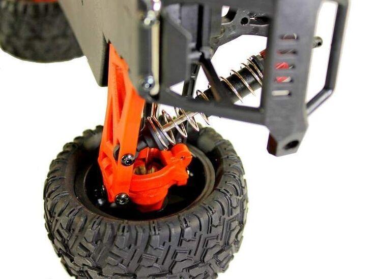 Радиоуправляемый монстр Remo Hobby SMAX Brushless UPGRADE 4WD 2.4G 1/16 RTR красный