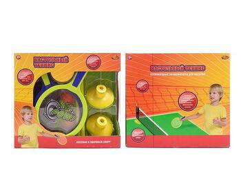 Теннис настольный, в наборе с сеткой, ракеткой, шариками