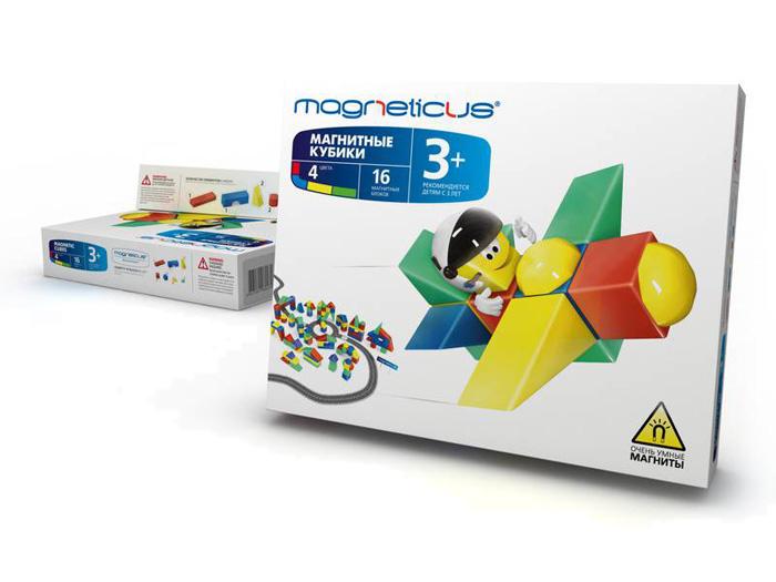 Магнитный конструктор MAGNETICUS Кубики магнитные 16 элементов