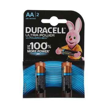 Батарейка алкалиновая Duracell UltraPower, АА, LR6-4BL, 2 шт