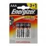 Батарейка алкалиновая Energizer Max, AAA, LR03-4BL, блистер, 4 шт.