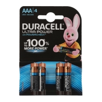 Батарейка алкалиновая Duracell UltraPower, ААА, LR03-4BL, 4 шт