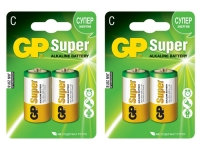 Батарейки для конструкторов SpaceRail GP Super Alkaline C типа (4 шт.)
