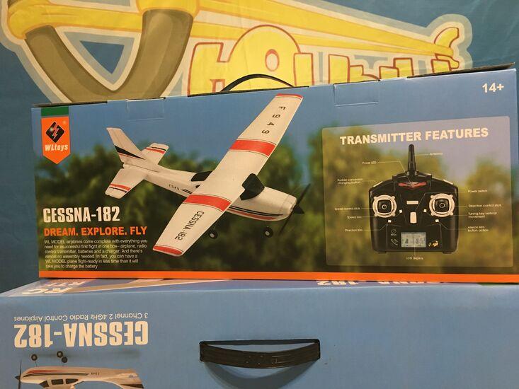 Радиоуправляемый самолет WL Toys F949 Cessna 182 RTF 39 см для начинающих