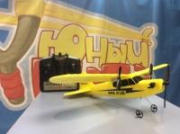 Радиоуправляемый самолет FX803 Piper J-3  (EPP) 2.4G для начинающих