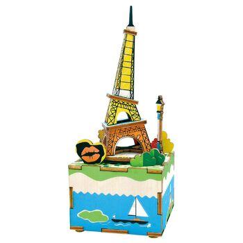 Деревянный 3D конструктор - музыкальная шкатулка Robotime Romantic Eiffel - AM308