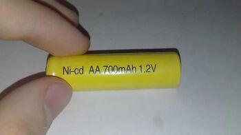 Аккумулятор NiCd АА 1.2V 700mAh Flat Top (1шт)