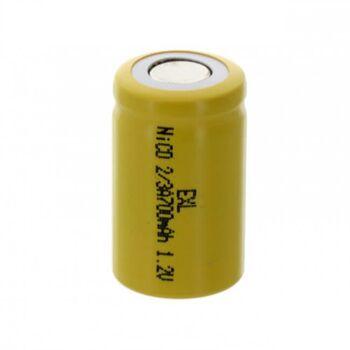 Аккумулятор NiCd 2/3А 1.2V 700mAh Flat (1шт)