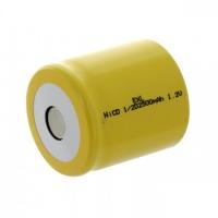 Аккумулятор NiCd 1/2D 1.2V 2500mAh Flat Top (1шт)