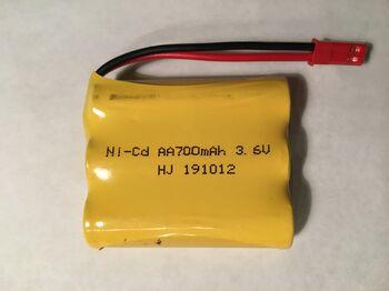 Аккумулятор Ni-Cd 3.6v 700mah форма Flatpack разъем JST