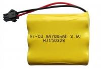Аккумулятор Ni-Cd 3.6v 700mah форма Flatpack разъем YP