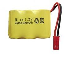 Аккумулятор Ni-Cd 06AA 7.2v 500mah форма Row разъем JST