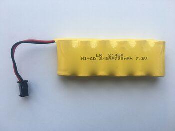 Аккумулятор Ni-Cd 2/3AA 7.2v 700mah форма Flatpack разъем YP