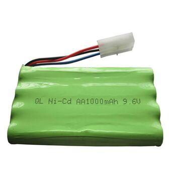 Аккумулятор Ni-Cd 9.6v 1000mah форма Column-Row разъем Tamiya3