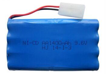 Аккумулятор Ni-Cd 9.6v 1400mah форма Column-Row разъем Tamiya