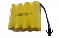 Аккумулятор Ni-Cd 9.6v 700mah форма Row разъем YP