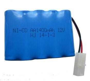 Аккумулятор Ni-Cd 12v 1400mah форма Row разъем Tamiya