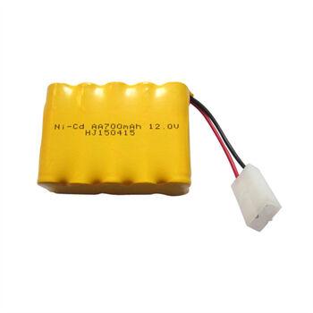 Аккумулятор Ni-Cd 12v 700mah форма Row разъем TAMIYA
