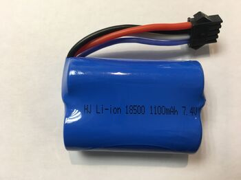 Аккумулятор 18500 Li-ion 7.4v 1100mah ICR разъем YP4