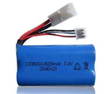 Аккумулятор 18650 Li-Ion 7.4v 1500mah ICR разъем EL