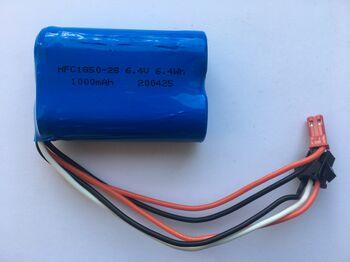 Аккумулятор 18500 Li-ion 6.4v 1000 mah разъем YP3 JST
