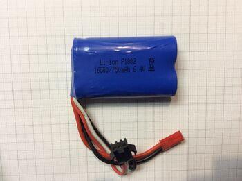 Аккумулятор 16500 Li-ion 6.4v 750 mah разъем YP3 JST