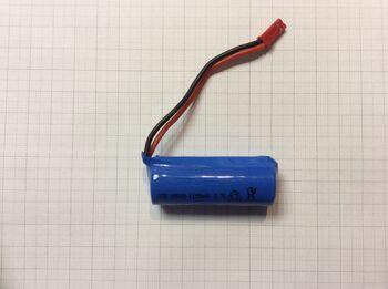 Аккумулятор 18500 LI-ION 3.7V 1100 mAh разъем JST
