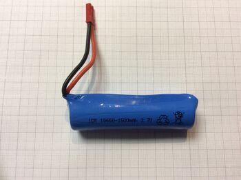Аккумулятор 18650 Li-ion 3.7v 1500mah ICR разъем JST