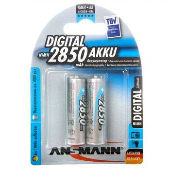 Аккумуляторная батарейка ANSMANN AA 2850 mAh BP-2 (1шт)