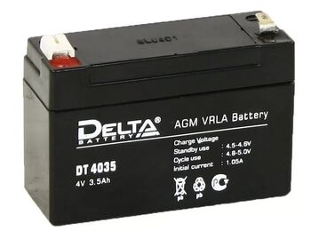 Аккумулятор Pb DELTA 4V 3500 mAh DT 4035