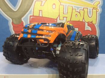 Радиоуправляемый монстр HSP 94972-97291 Savagery Blue Nitro Monster Truck 4WD 1:8