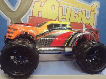 Радиоуправляемый монстр HSP 94972-97292 Savagery Red Nitro Monster Truck 4WD 1:8